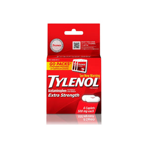 TYLENOL  Pain Reliever Fever Reducer Caplets Extra Strength, 500 mg 6 Caplets