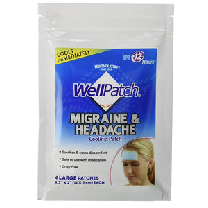 WellPatch Migraine & Headache Cooling Patch 4 ea