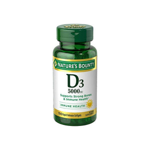 Nature's Bounty Vitamin D-5000 IU Softgels, Maximum Strength 150 ea