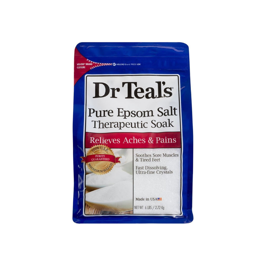Dr Teal's Pure Epsom Salt Therapeutic Soaking Solution, Unscented 96 oz