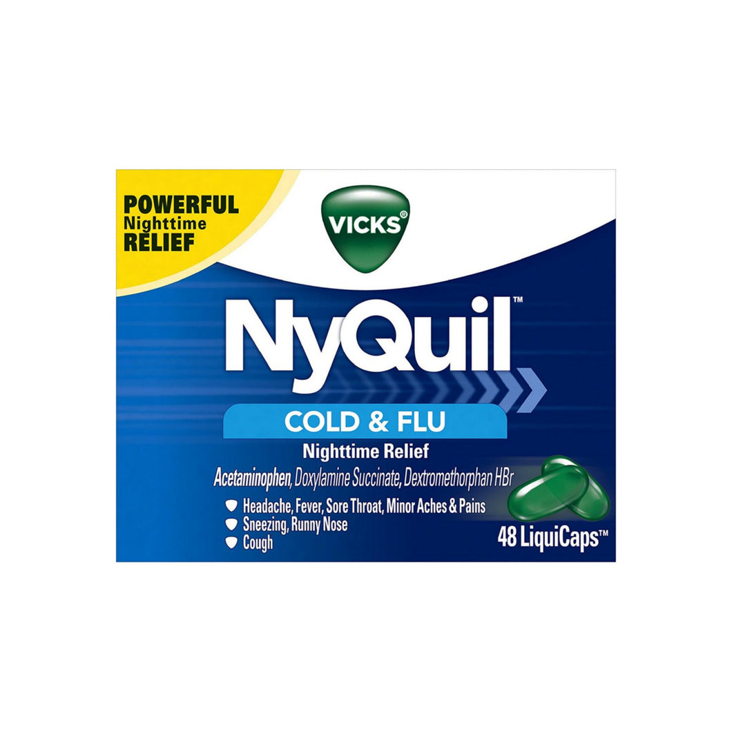 Vicks NyQuil Cold & Flu Nighttime Relief LiquiCaps 48 ea