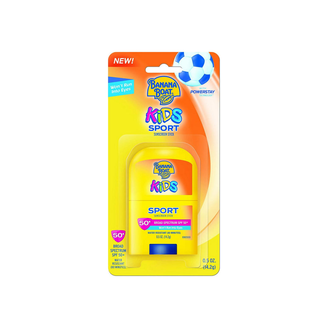Banana Boat Kids Sport Broad Spectrum Sunscreen Stick with SPF 50 0.50 oz