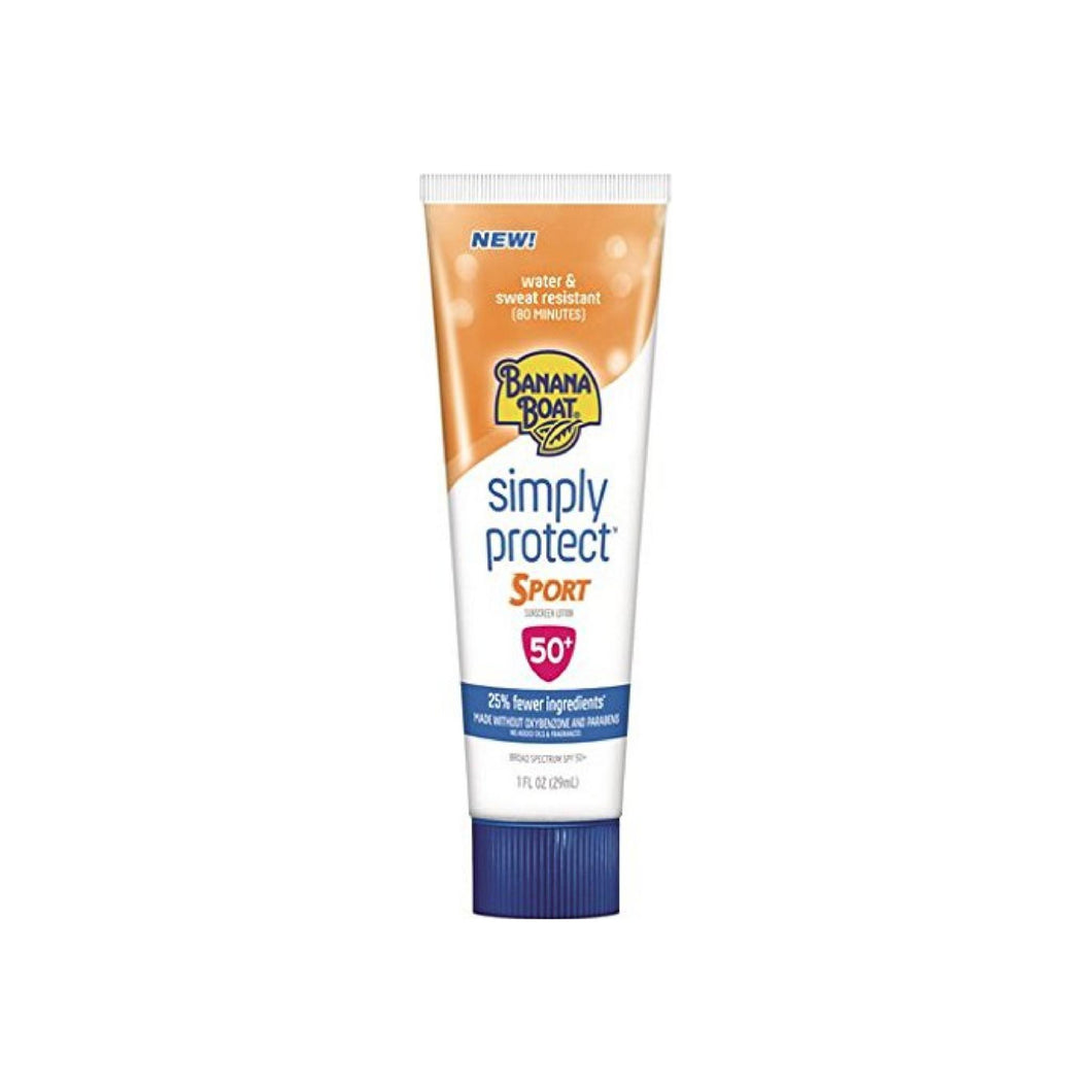 Banana Boat Simply Protect Sport Sunscreen Lotion, SPF 50+ 1 oz
