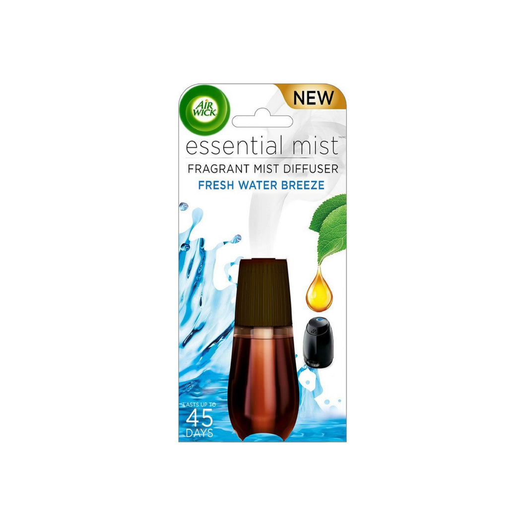 Air Wick Essential Mist Fragrant Mist Diffuser Refill, Fresh Water Breeze 0.67 oz
