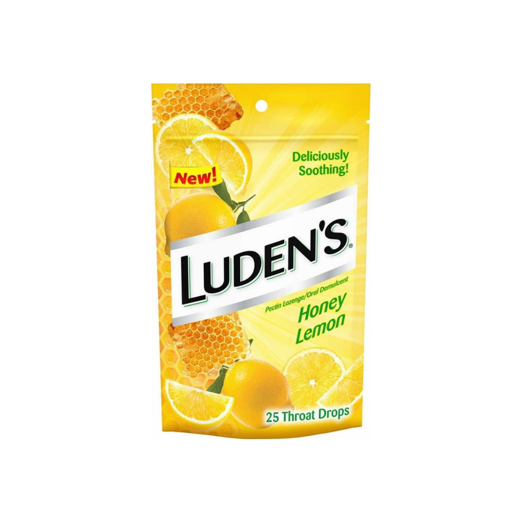 Luden's Honey Lemon Menthol Lozenge 25 ea