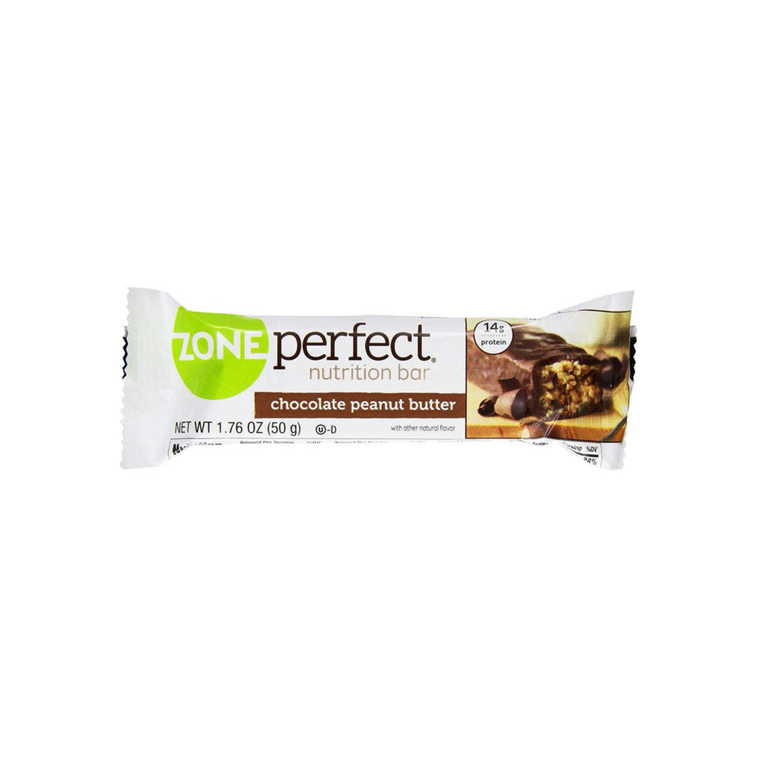 ZonePerfect Nutrition Bar, 1.76 oz bars, Chocolate Peanut Butter 12 ea