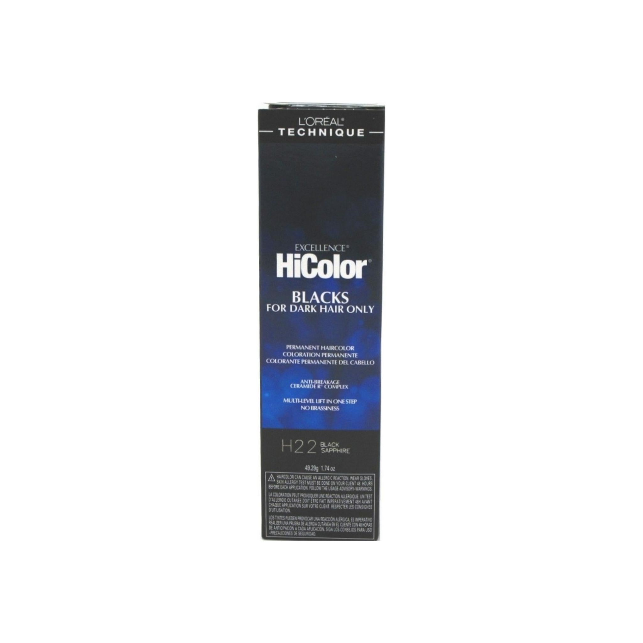 L Oreal Excellence Hicolor Permanent Hair Color Black Sapphire