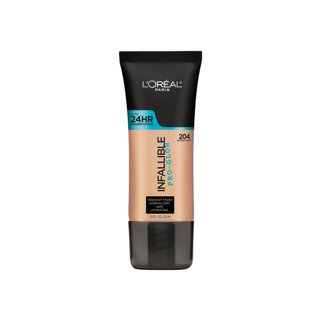 L'Oreal Paris Infallible Pro-Glow Foundation, Natural Buff 1 oz