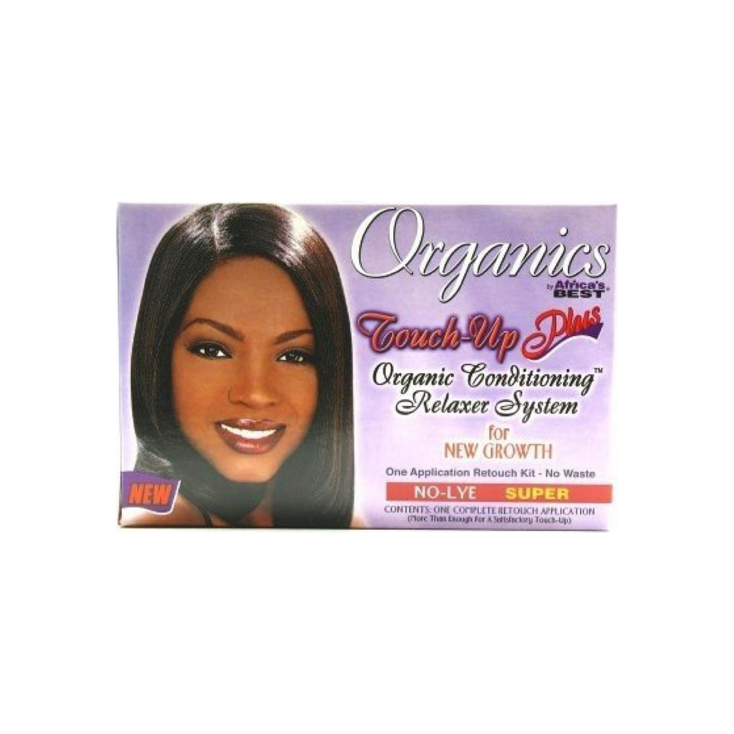 Africa's Best Organics Touch-Up Plus Moisturizing No-Lye Relaxer Kit Super 1 ea