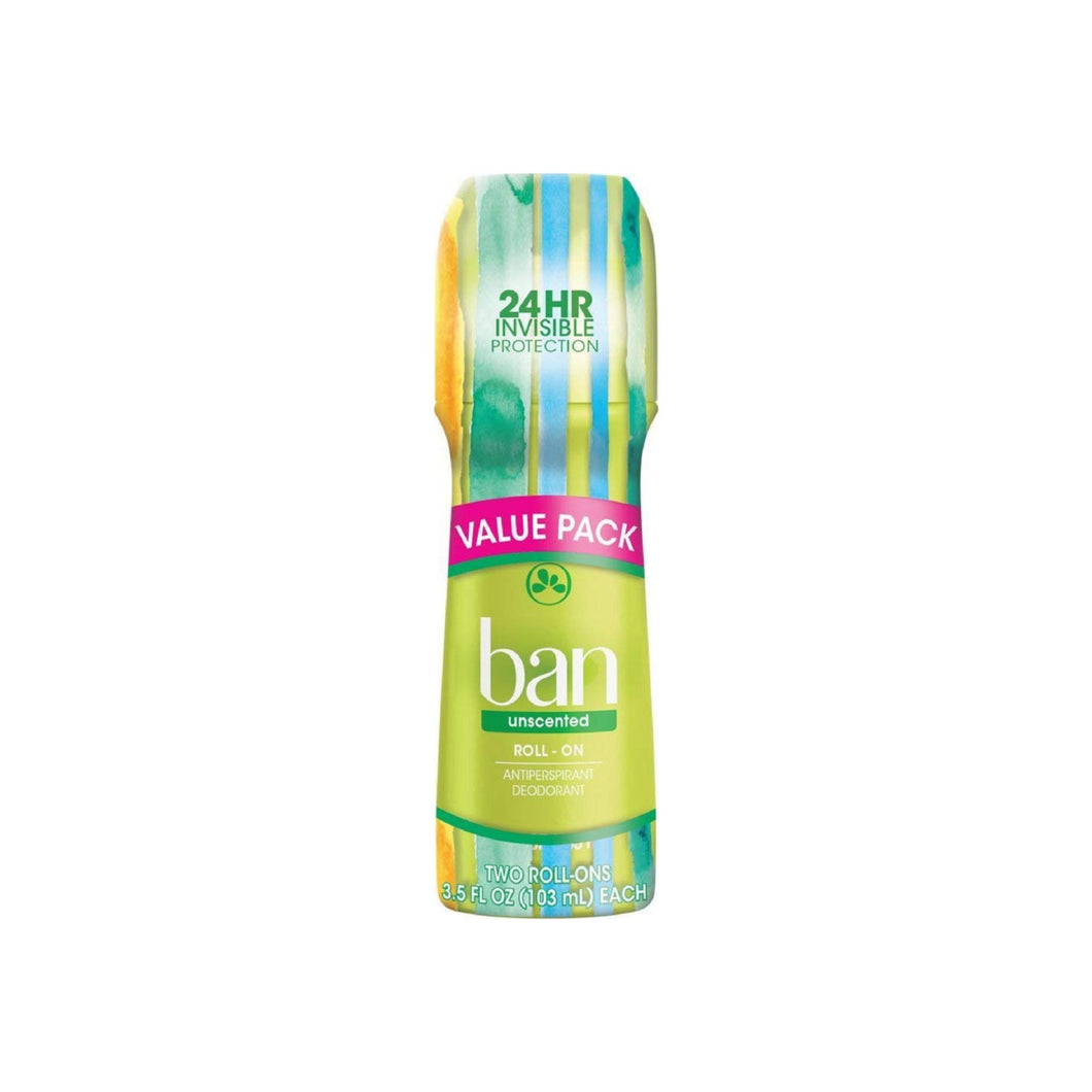 Ban Roll-On Antiperspirant Deodorant, Unscented 3.5 oz