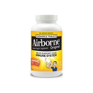 Airborne Citrus Chewable Tablets 1000mg of Vitamin C - Immune Support Supplement 116 ea