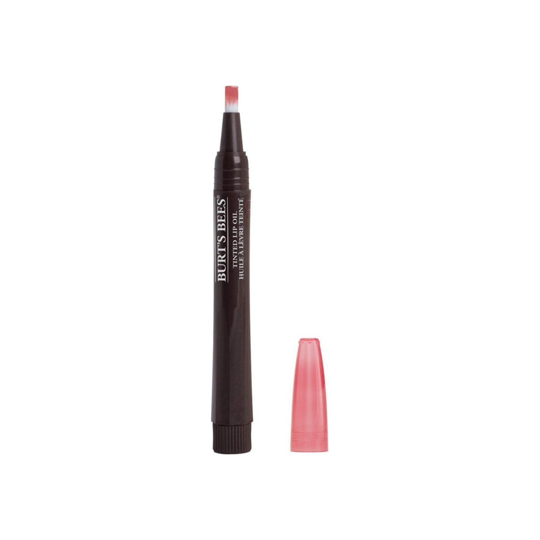 Burt's Bees 100% Natural Moisturizing Tinted Lip Oil, Rustling Rose 0.48 oz