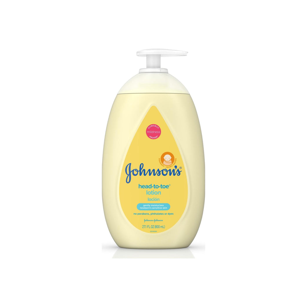 JOHNSON'S Head To Toe Moisturizing Baby Body Lotion, Hypoallergenic & Paraben Free 27.1 oz