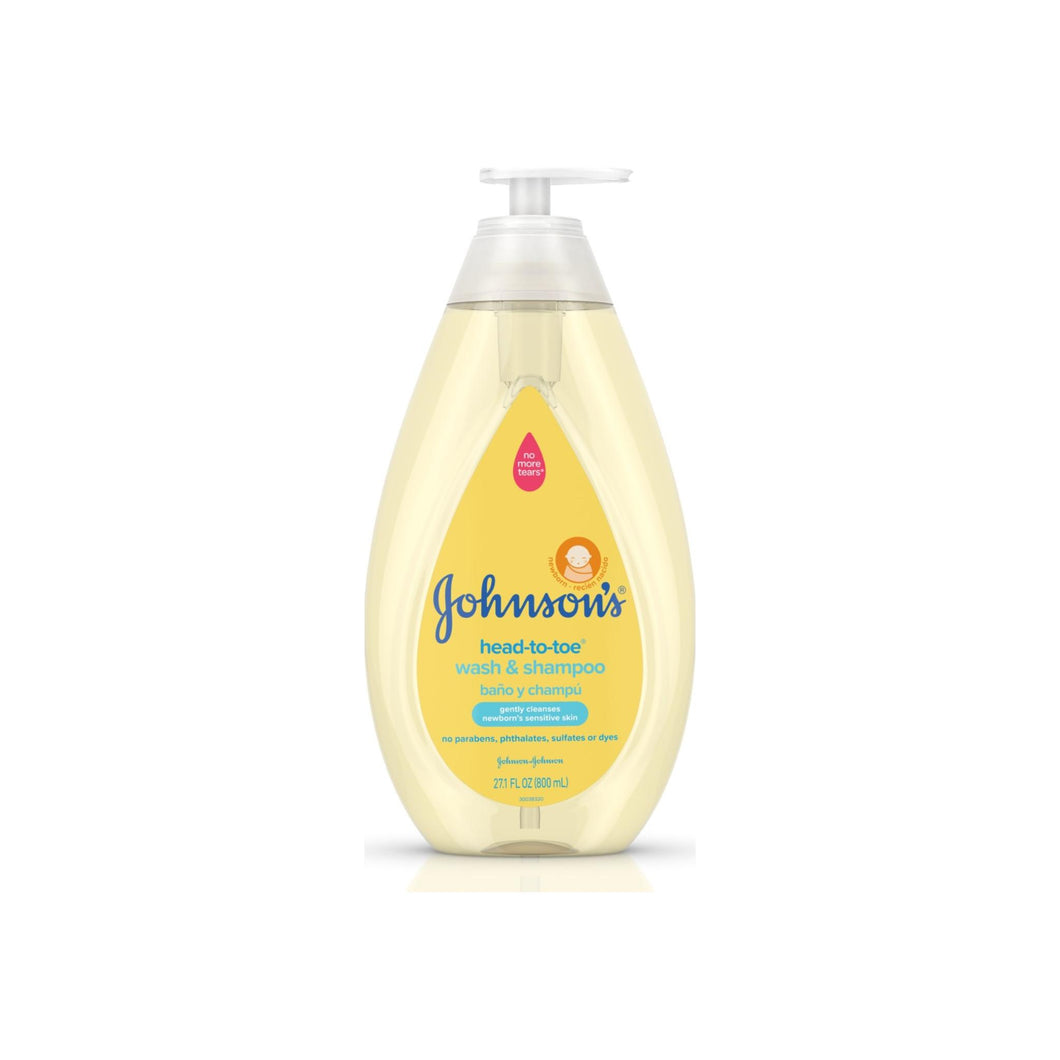 JOHNSON'S Head To Toe Gentle Tear Free Baby wash & Shampoo for baby Sensitive skin 27.1 oz