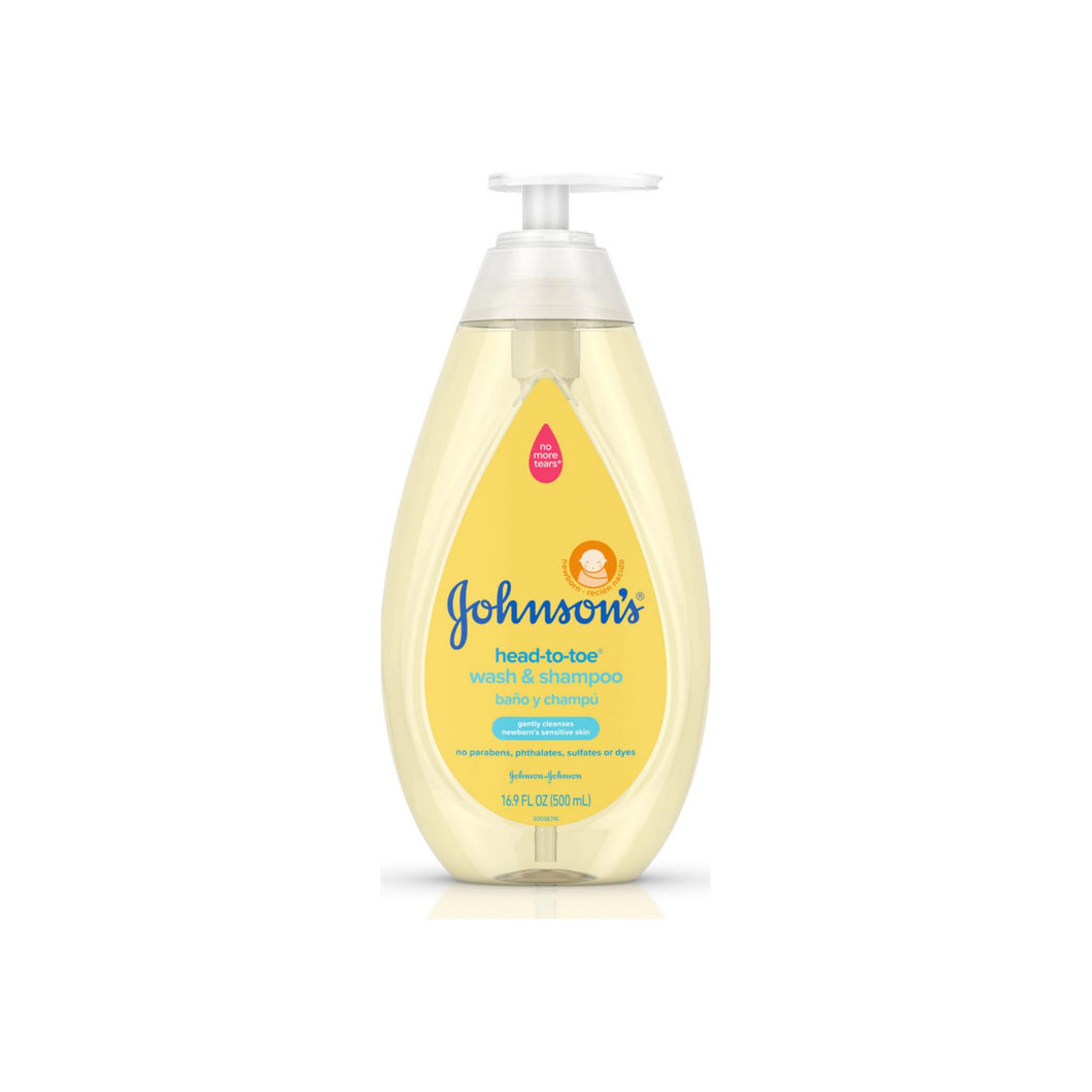 JOHNSON'S Head-To-Toe Gentle Tear- Free Baby Wash & Shampoo for Baby's Sensitive Skin 16.9 oz