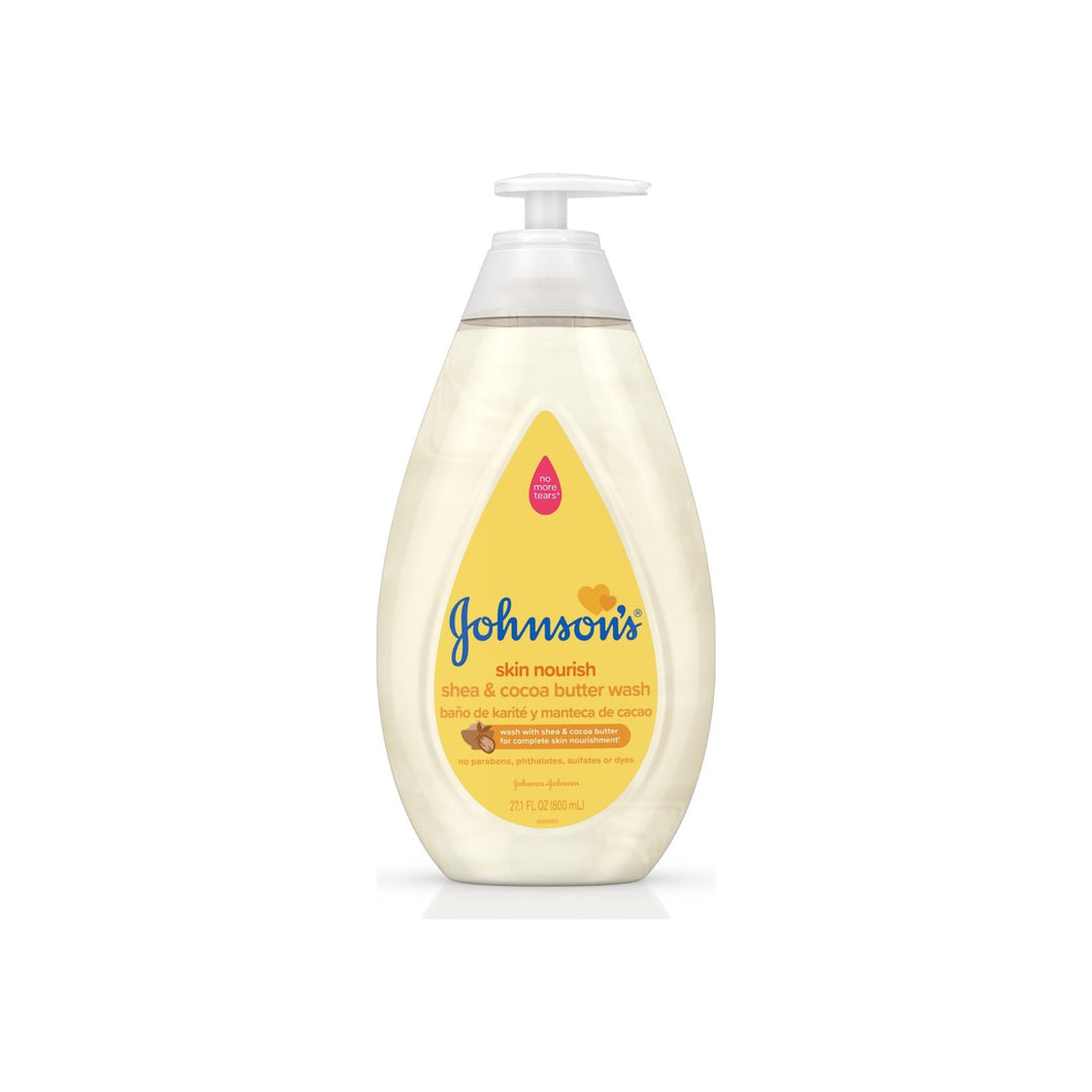 JOHNSON'S Tear Free Skin Nourishing baby Wash with Shea & Cocoa Butter 27.1 oz