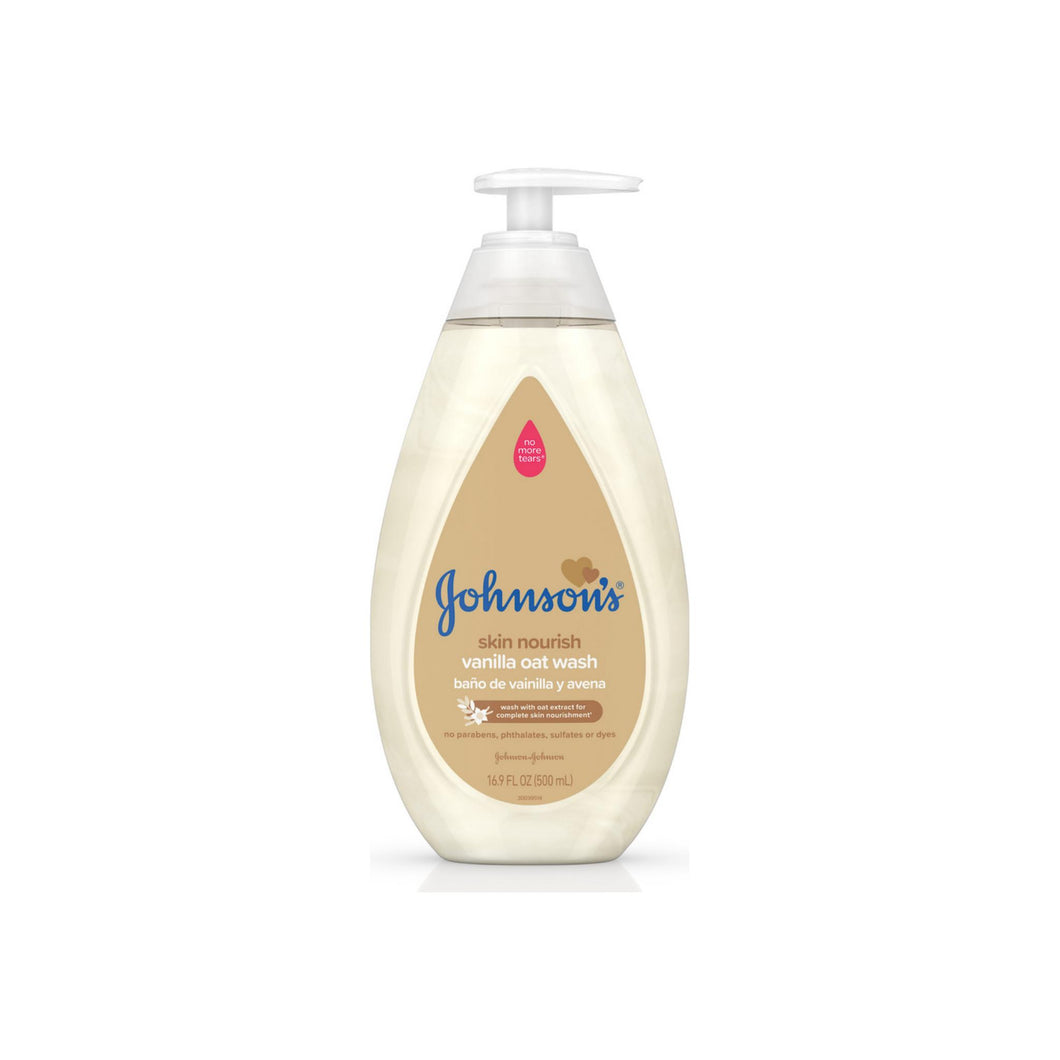 JOHNSON'S Tear Free Skin Nourishing Baby Wash With Vanilla & Oat Extract 16.9 oz