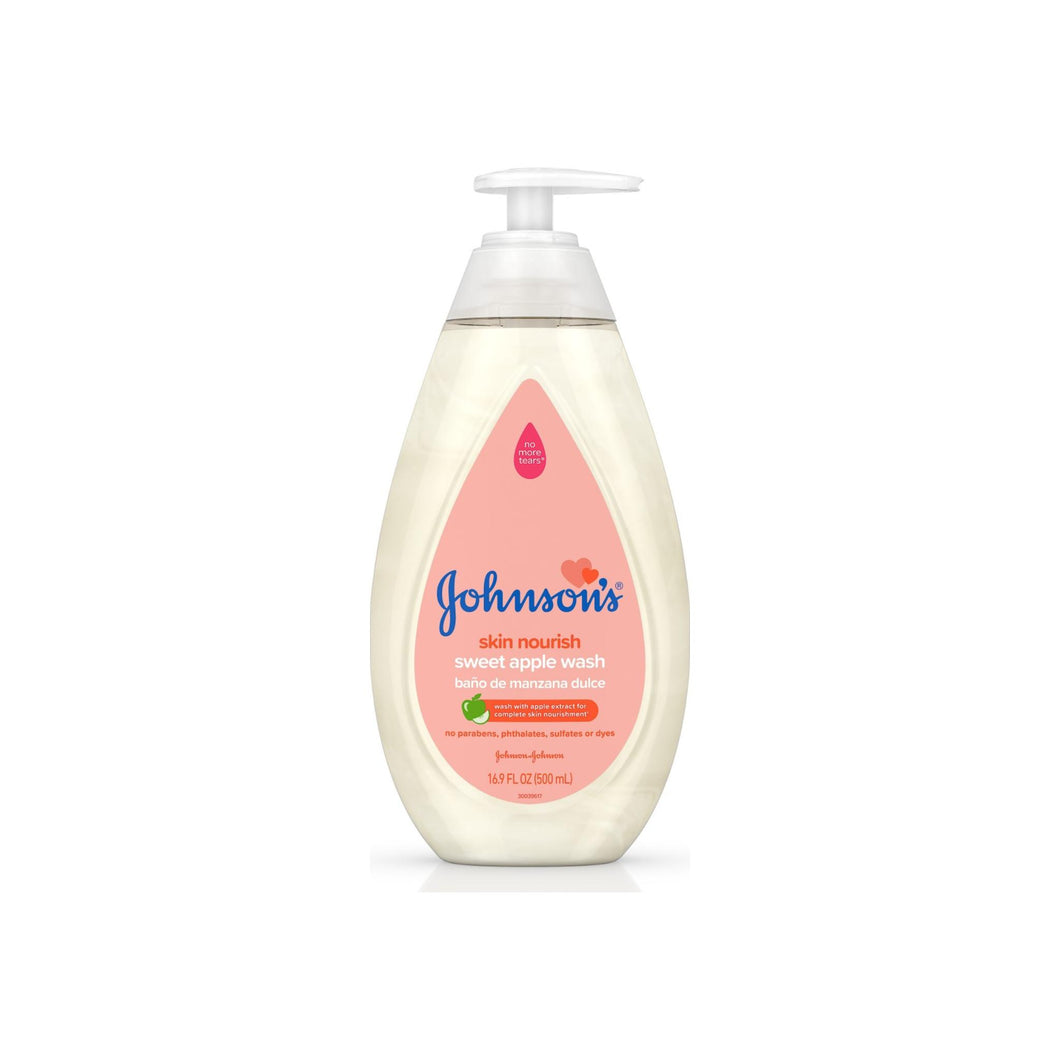 JOHNSON'S Tear Free Skin Nourishing Baby Wash With Sweet Apple Extract 16.9 oz