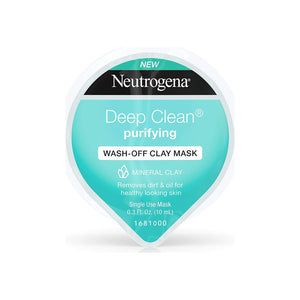 Neutrogena Deep Clean Gentle Purifying Wash-Off Clay Face Mask 0.3 oz