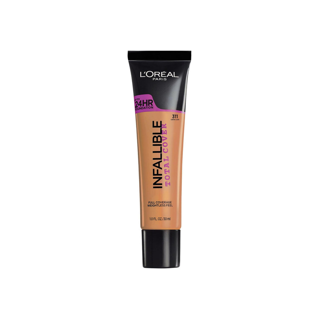 L'Oreal Paris Infallible Total Cover Foundation, Creme Cafe 1 oz