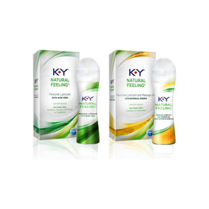 K-Y Natural Feeling Value Pack With Aloe Vera Lubricant Gel (1.69oz) & Botanical Essence Lubricant Gel (1.69oz) Water-Based Lubes & Massage Gels 1 ea [191567609710]
