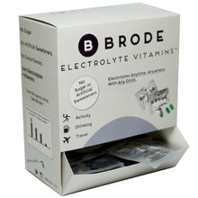 Load image into Gallery viewer, Brode Electrolyte Vitamin - Portable Zero-sugar Electrolyte Tablets - For Sports, Hangovers, Jet Lag, 5 Essential Electrolytes + 9 Vitamins 100-Pack
