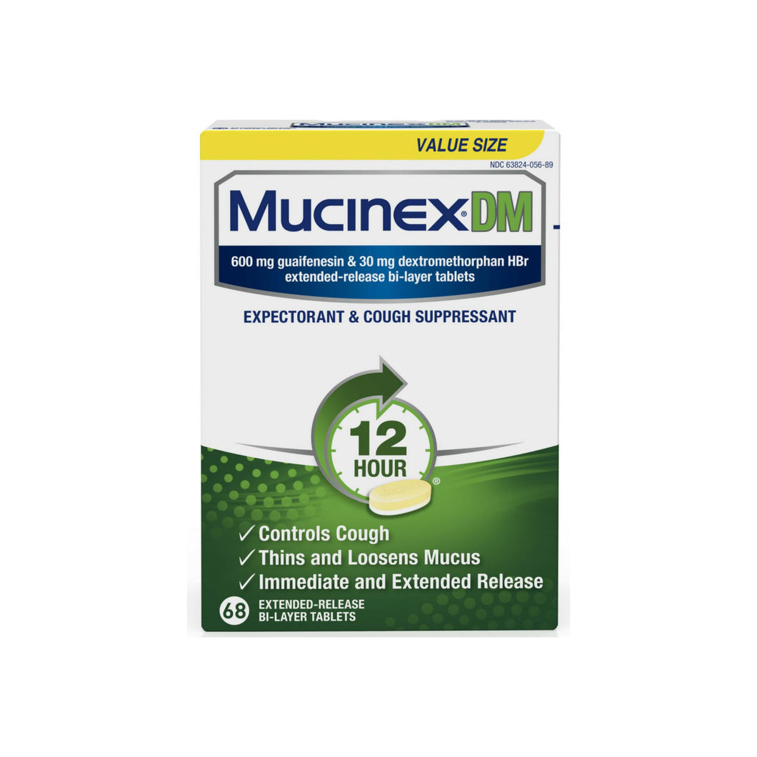 Mucinex DM Extended Release Bi-Layer Tablet, Expectorant & Cough Suppressant 68 ea