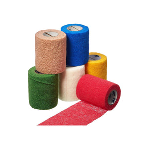 "Cohesive Bandage 3M Coban 3"" X 5 Yard Standard Compression Selfadherent Closure Tan  Green  Yellow  Blue  Red  White NonSterile"