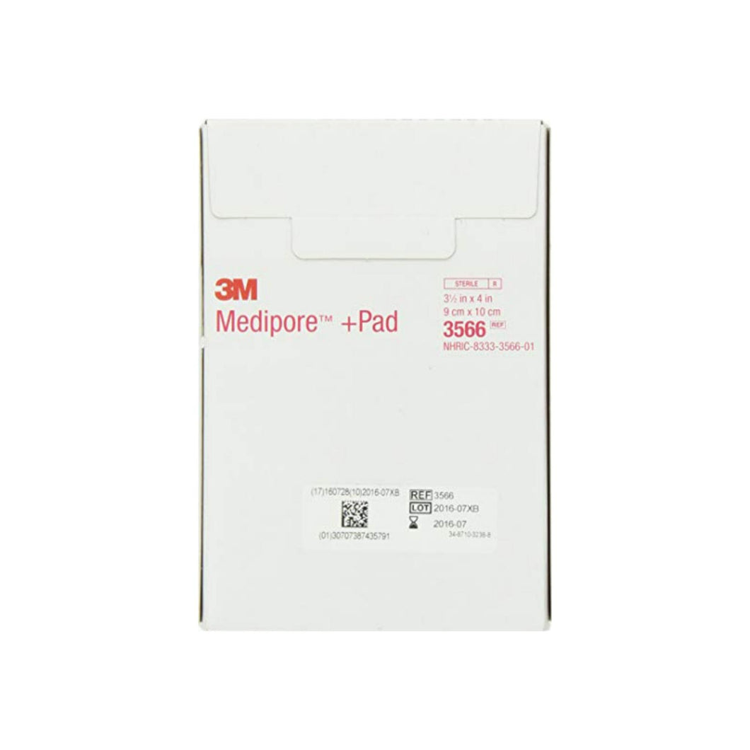 3M Medipore +Pad Soft Cloth Adhesive Wound Dressing, 25 ea - Pharmapacks