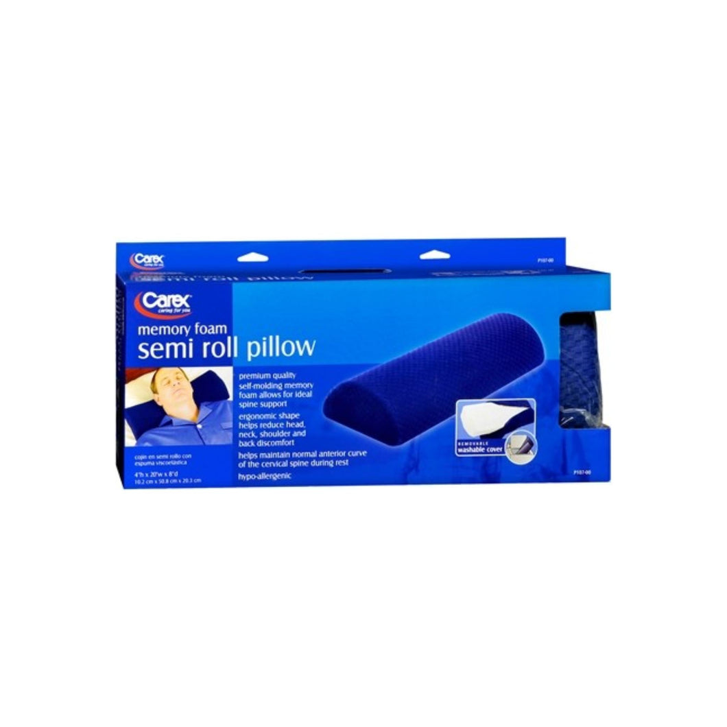 Carex Memory Foam Semi Roll Pillow 1 Each