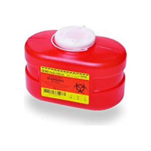 B-D Multi-Use One-Piece Sharps Containers - Regular Funnel Vented Cap, 3.3 Quart, 1 ea