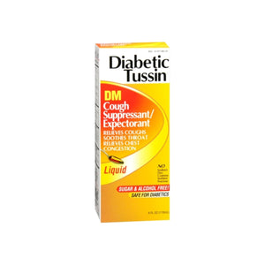 Diabetic Tussin DM Cough Suppressant/Expectorant 4 oz