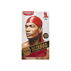 KISS Red Durag Silky Satin Red Extra Long Tails  1 ea