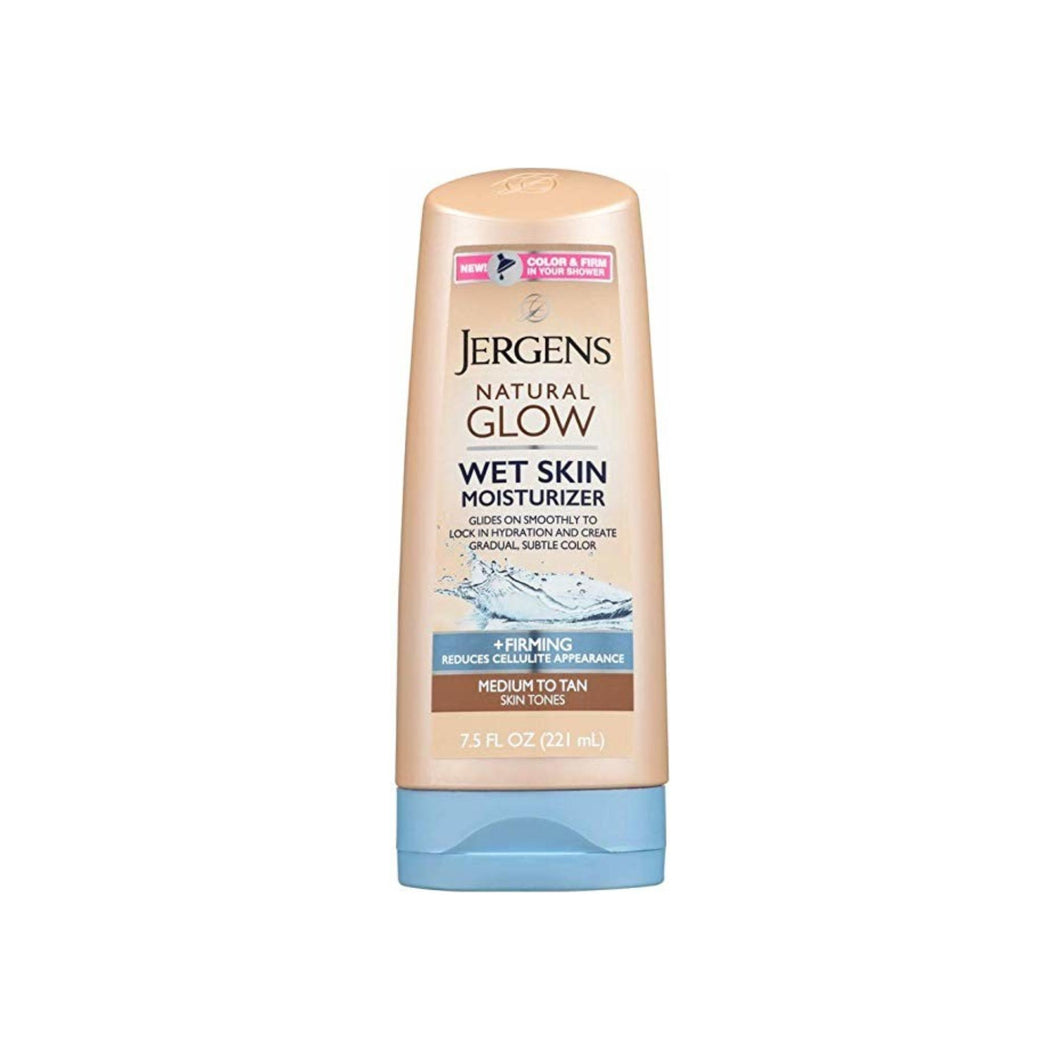 Jergens Natural Glow Wet Skin Moisturizer, Medium Skin Tan  7.5 oz