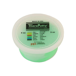 CanDo TheraPutty Standard Exercise Putty,Green,Medium, 3 oz 1 ea