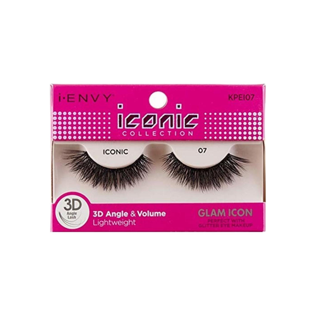 KISS I Envy Iconic Collection Lashes [07] 3D Angle & Volume 1 ea
