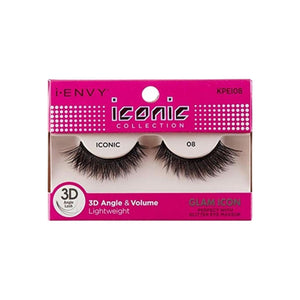 KISS  I Envy Iconic Collection Lashes [08] 3D Angle & Volume 1 ea