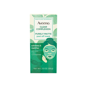 AVEENO Clear Complexion Pure Matte Peel Off Face Mask with Alpha Hydroxy Acids, Soy & Pomegranate for Clearer-Looking Skin 2  oz