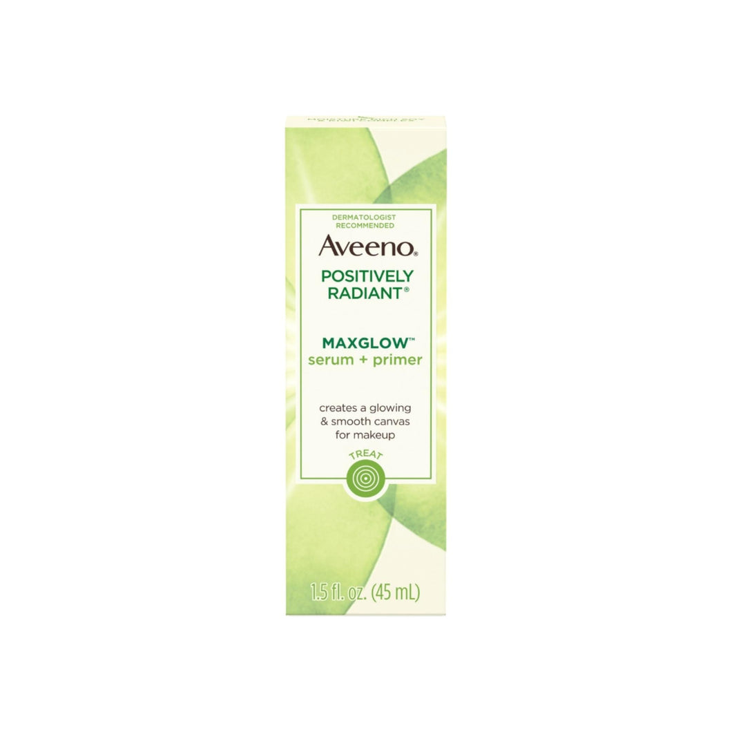AVEENO Positively Radiant MaxGlow Hydrating Face Serum + Primer with Moisture Rich Soy & Kiwi Complex 1.5  oz