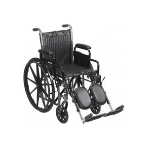 McKesson Standard Wheelchair with Swing Away Footrests - Swing-Away Footrests, 20 Inch Seat, 350 lbs. Capacity - 1 ea