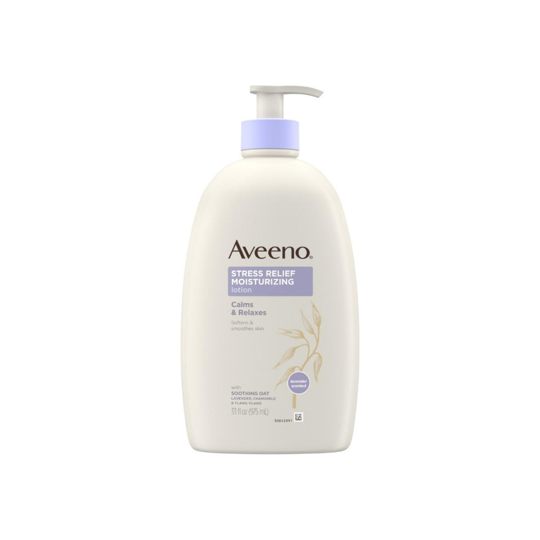 AVEENO Stress Relief Moisturizing Body Lotion with Lavender, Natural Oatmeal and Chamomile & Ylang-Ylang Essential Oils 33  oz