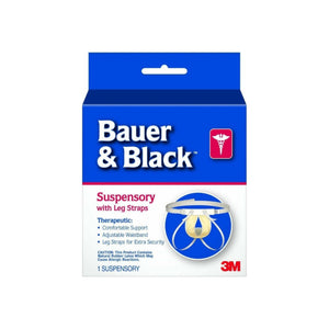 BD Bauer and Black Suspensory W/Leg Straps, 1/Ea, Medium, BD201161 - 1 ea