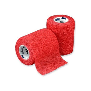 "Cohesive Bandage 3M Coban 3"" X 5 Yard Standard Compression Selfadherent Closure Red NonSterile - 1 ea"