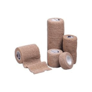 "Cohesive Bandage 3M Coban LF 1"" X 5 Yard Standard Compression Selfadherent Closure Tan NonSterile - 5 ea"