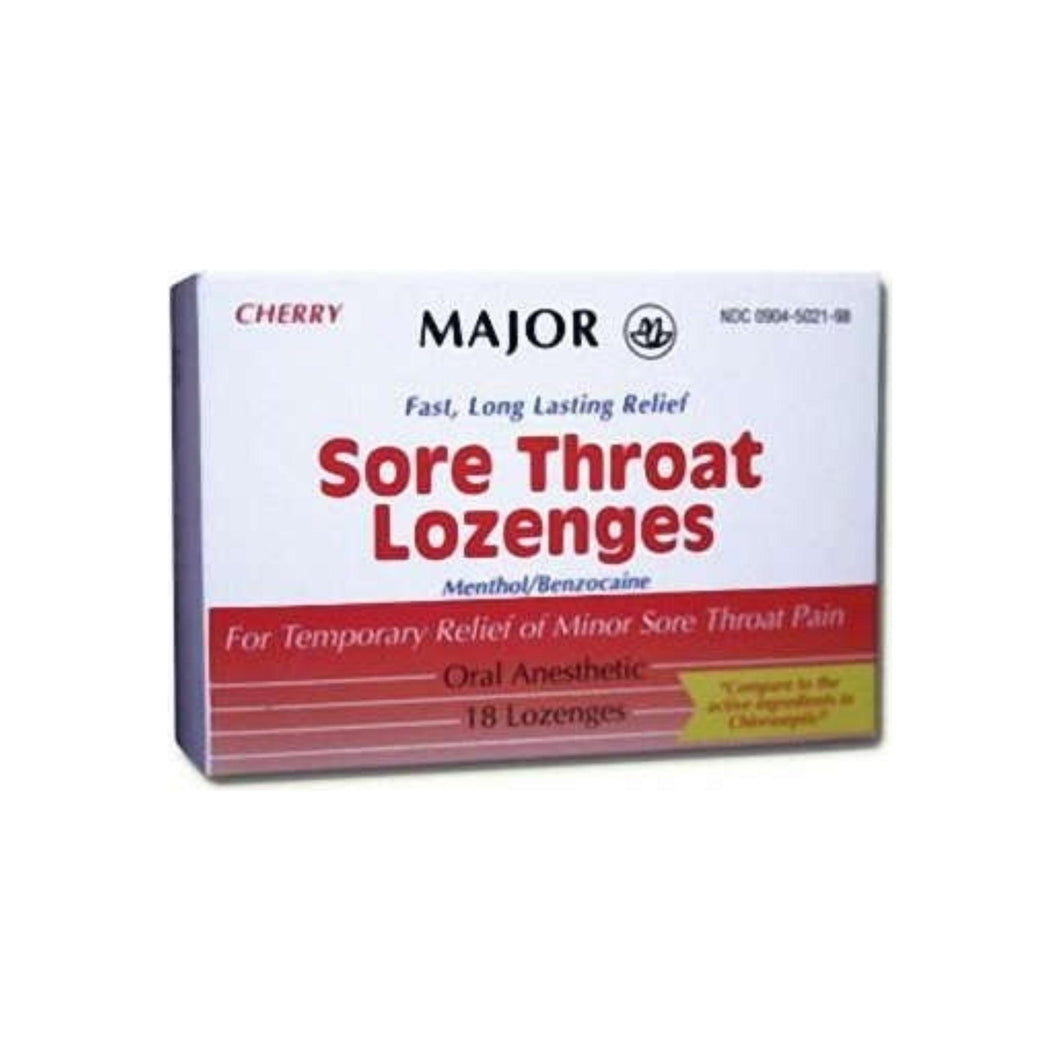 Sore Throat Relief Major 15 mg  4 mg Strength Lozenge - 18 ea