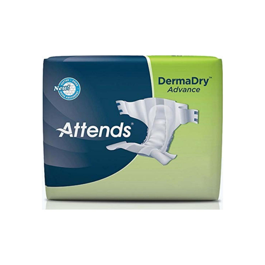Adult Incontinent Brief Attends Advanced Tab Closure 2XLarge Disposable Heavy Absorbency - 12 ea