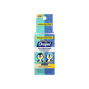 Baby Orajel, Non-Medicated Cooling Gels For Teething Daytime & Nighttime 0.18 oz