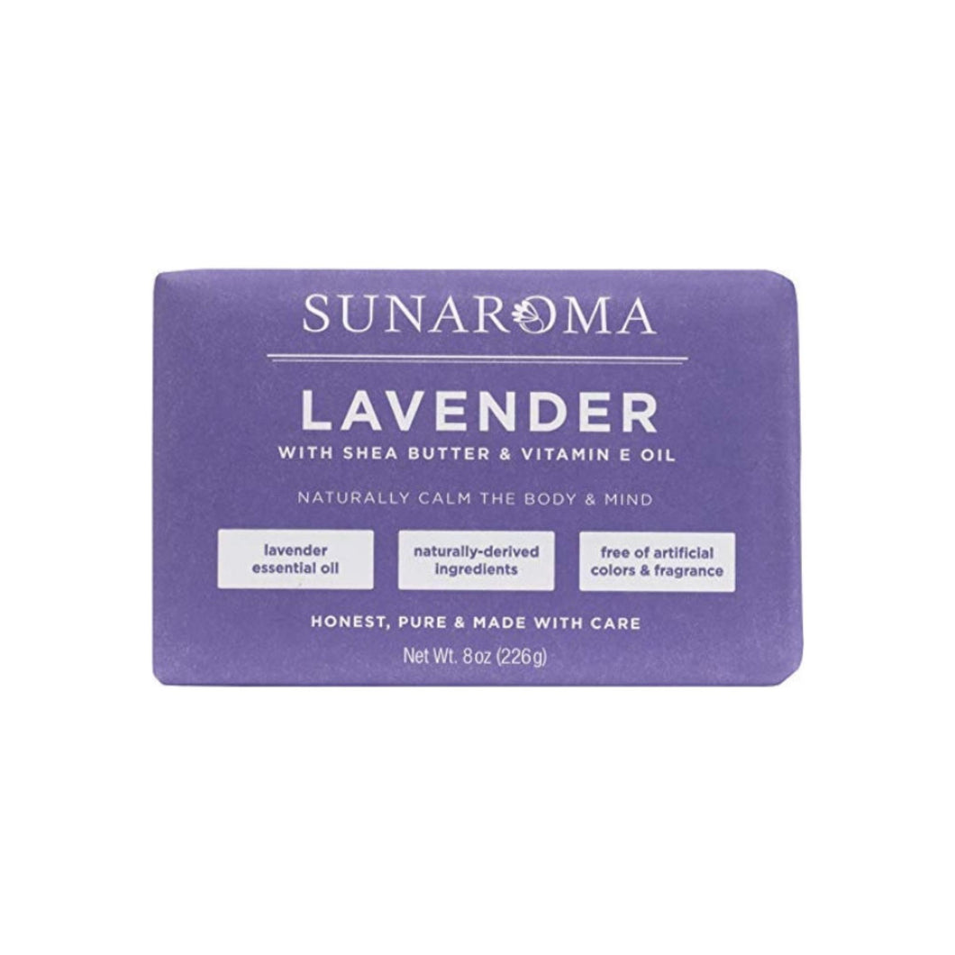 Sunaroma, Lavender With Shea Butter & Vitamin E Oil Soap Bar 8 oz
