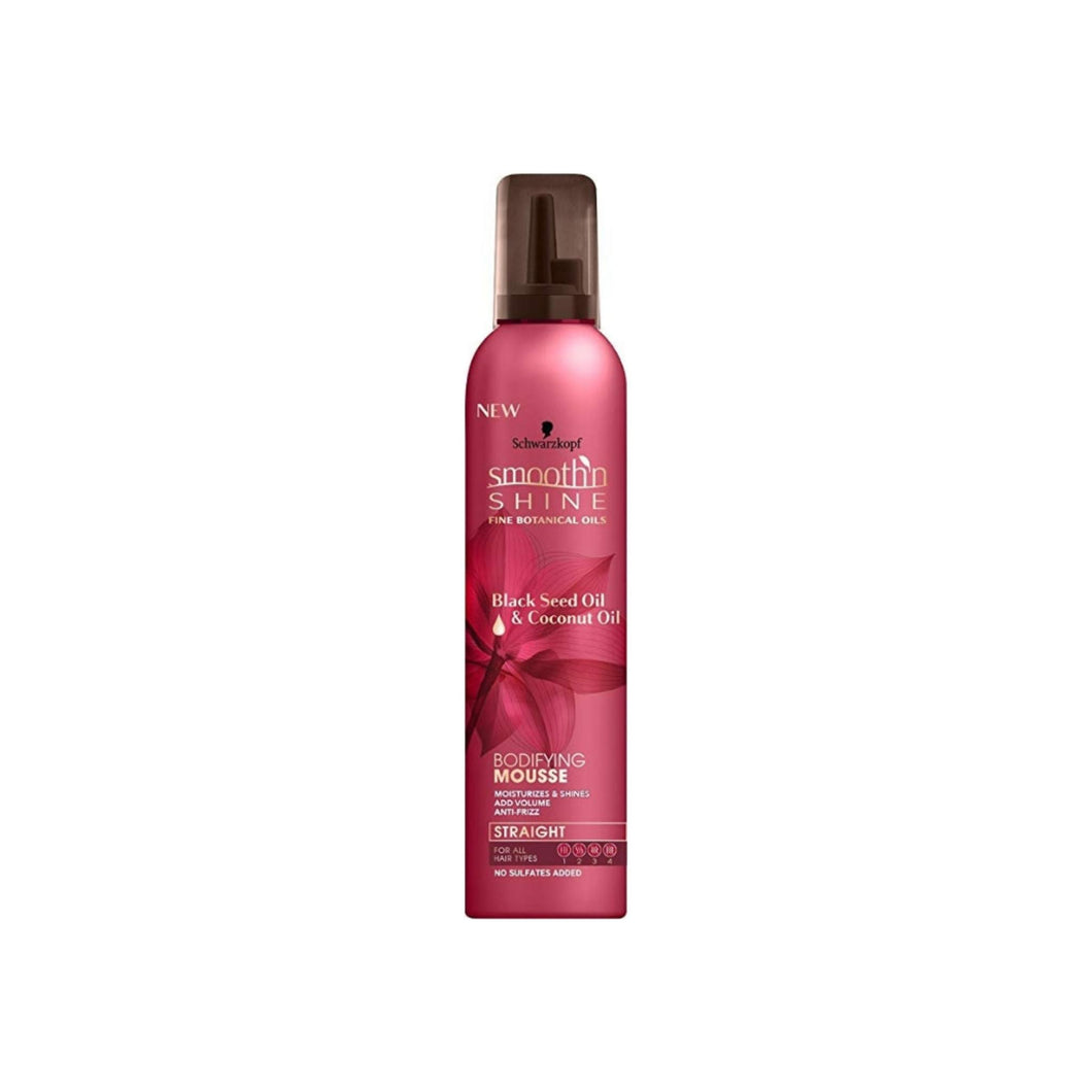 Schwarzkopf, Smooth'N Shine Straight Bodifying Mousse, Black Seed Oil & Coconut Oil 9 oz