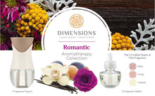 Load image into Gallery viewer, Dimensions Romantic Collection - 3 Pre-blended Fragrance Refills and Fragrance Plugin for up to 4 Months of Brilliant Fragrance